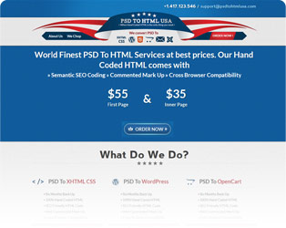 PSD to HTML USA