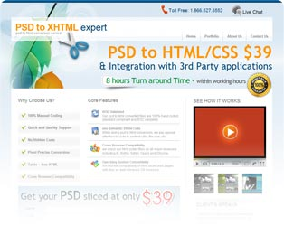 PSD to xHTML Expert